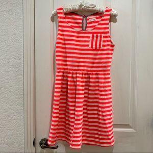 Maison Jules Textured Striped Dress EUC Medium